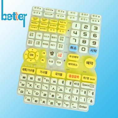 teclado de silicona fluorescente